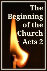 The Beginning of the Church