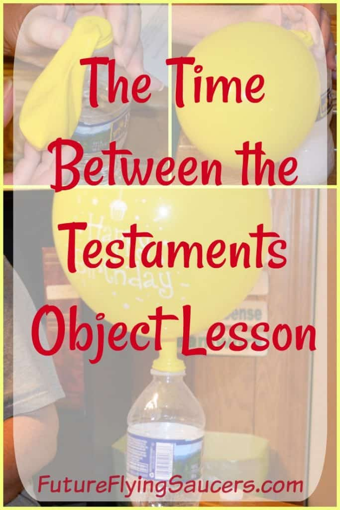 Use a fun object lesson to discuss waiting and what God was doing between the testaments. Time Between the Testaments Object Lesson