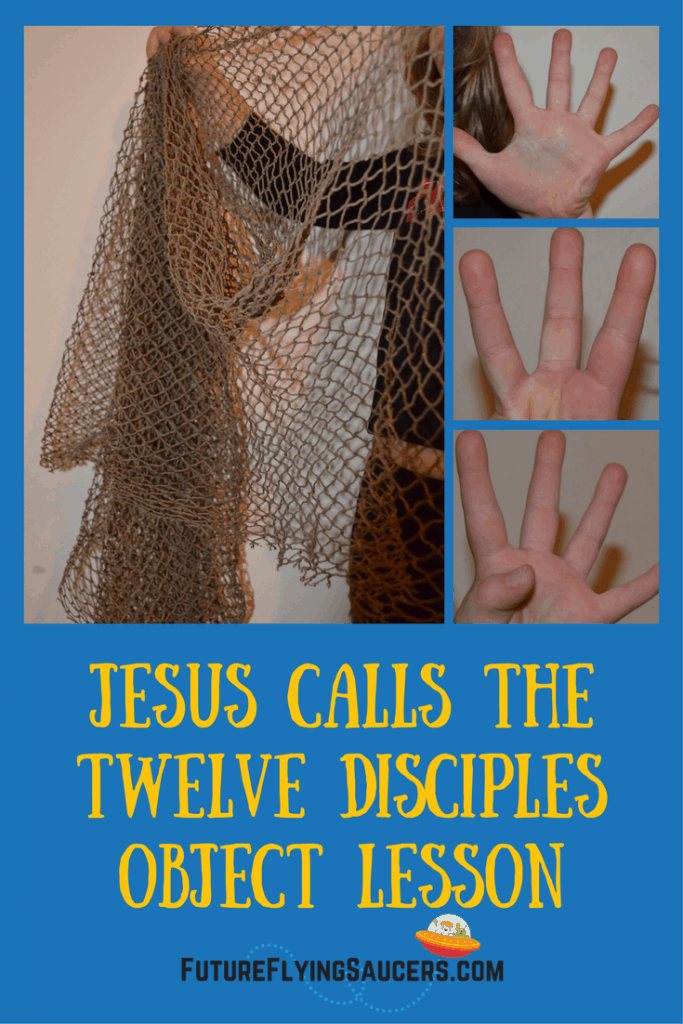 What does it mean to be a disciple and who were Jesus' first disciples? Use a fishing rod and net to teach children about the first disciples and how disciples today can work together to fish for men.