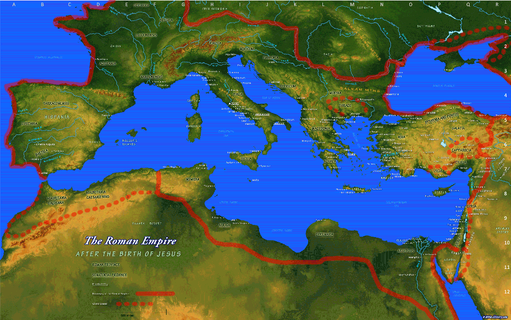 Map of the Roman Empire