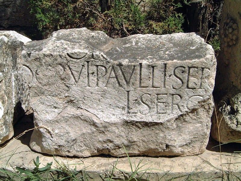 sergius-paulus-inscription on stone