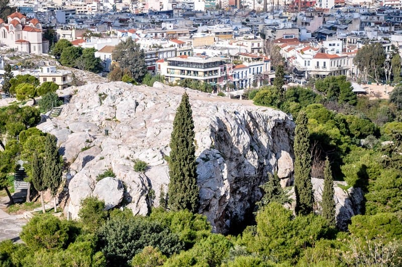 Mars Hill in Athens (Image from www.holylandphotos.org)
