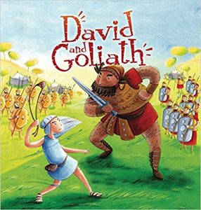 Use the story of David and Goliath to teach the difference between boasting and humbleness, another trait of godliness.