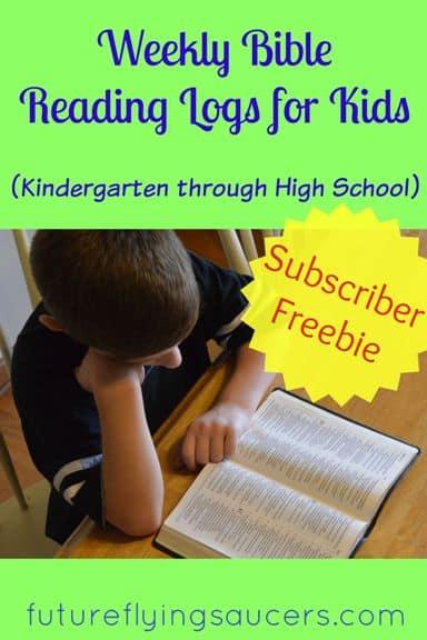 Weekly Bible Reading Logs