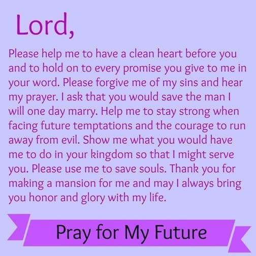 prayer for the future