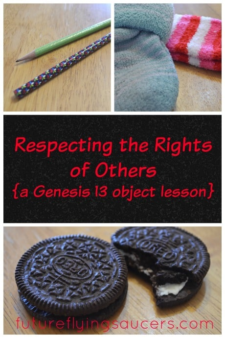respecting the rights of others object lesson
