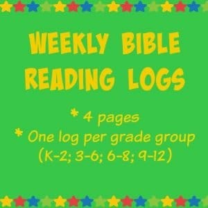 Bible Reading Logs