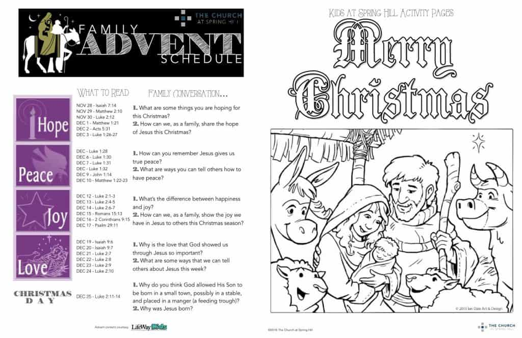 Advent children activities