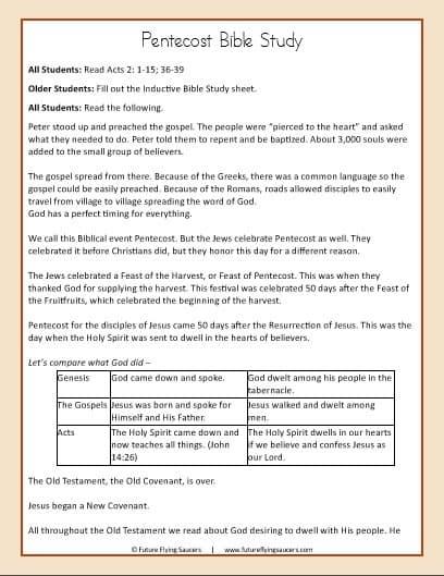 Pentecost Bible Study Pack