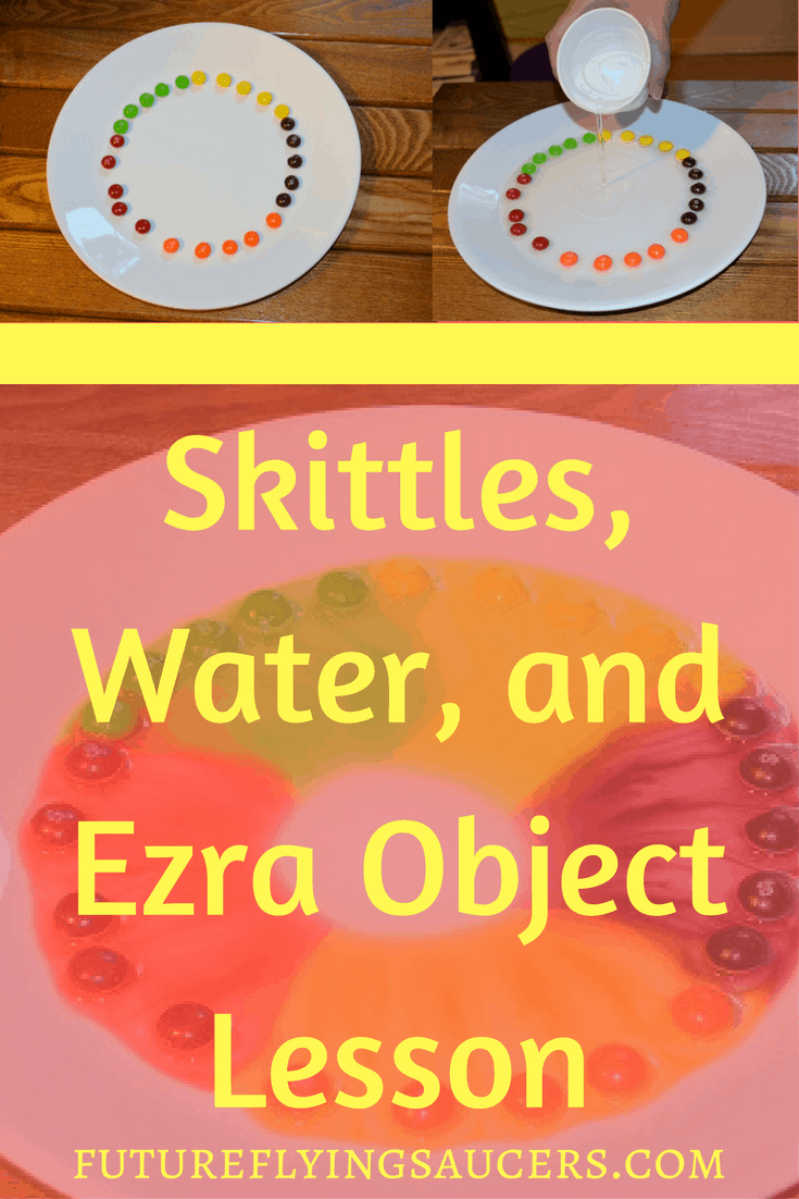 Use Skittles and warm water for this Ezra Object Lesson and teach children that God's commands are for our protection.