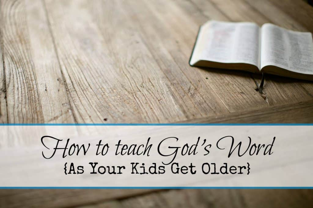 teaching older kids about the Bible