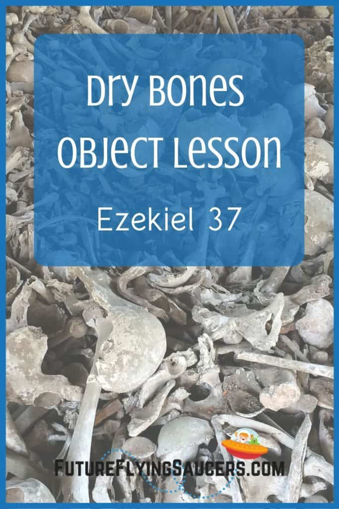 Image for title Ezekiel 37 includes a pile of dry bones