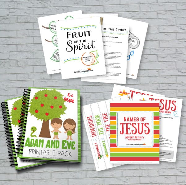 Sample of Printable Bible object Lesson